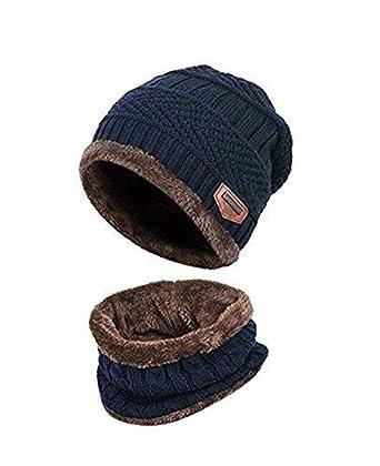 4c61d4b00 ZZLAY Sombrero de Gorro de Invierno Grueso Conjunto de Bufanda Gorro de  Gorro de Punto cálido Nieve Cubierto de Nieve  Amazon.es  Ropa y accesorios
