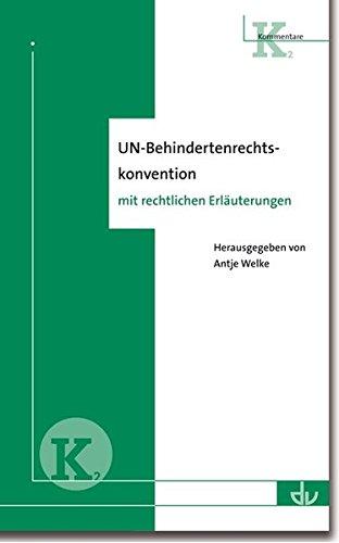 UN-Behindertenrechtskonvention: Kommentar mit rechtlichen Erläuterungen (K 2)