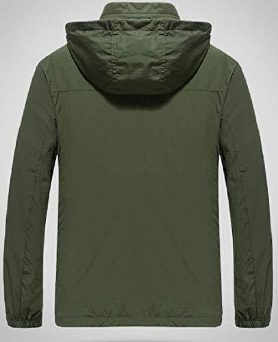 Con Impermeabile Mens Pioggia Gocgt Esterna Antivento Giacca Impermeabile Verde Cappuccio Leggera Militare w5I0qx0
