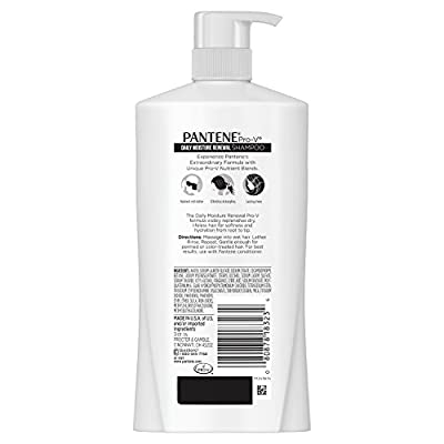 Pantene Pro-V Daily Moisture Renewal Shampoo, 30.4 fl oz(Packaging May Vary)