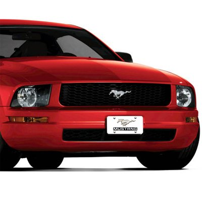Ford Mustang Pony and Name on Chrome License Plate Au-Tomotive Gold INC
