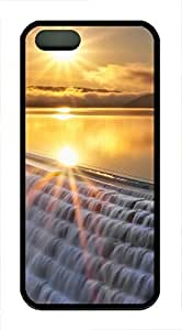 iPhone 5 5S Case Landscapes sunset 7 TPU Custom iPhone 5 5S Case Cover Black