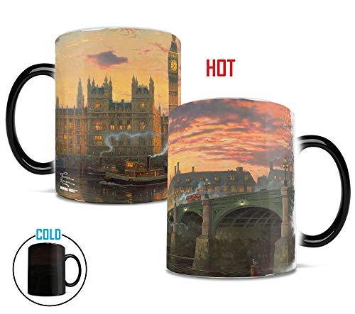 Morphing Mugs Thomas Kinkade London (England United Kingdom) Heat Reveal Ceramic Coffee Mug - 11 Ounces -