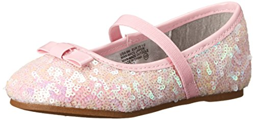 Nina Peggy-T Ballet Flat (InfantToddlerLittle KidBig Kid) Pink Sequins 8 M US Toddler