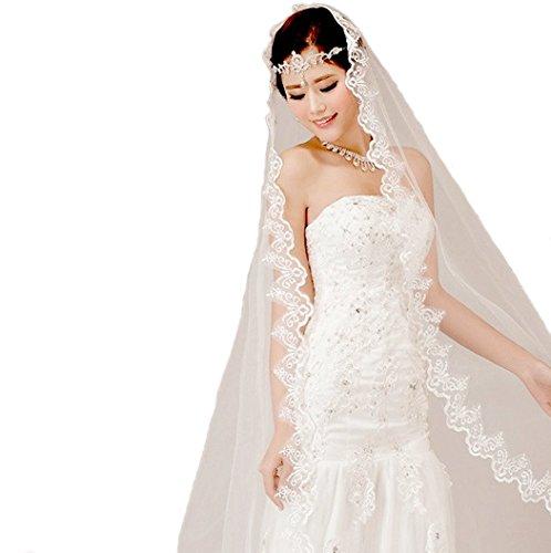 Lace Edge Wedding Veil - 3