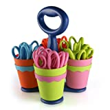 "Westcott School Scissor Caddy with 24 Pointed 5"" Kids Scissors with Anti-Microbial Protection"