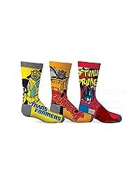 Transformers Boys Optimus Prime & Grimlock 3-Pack Crew Socks