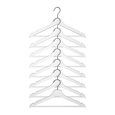 Ikea Home Bedroom Wardrobe Hooks Bumerang Curved Clothes Hanger White- 8 Pack