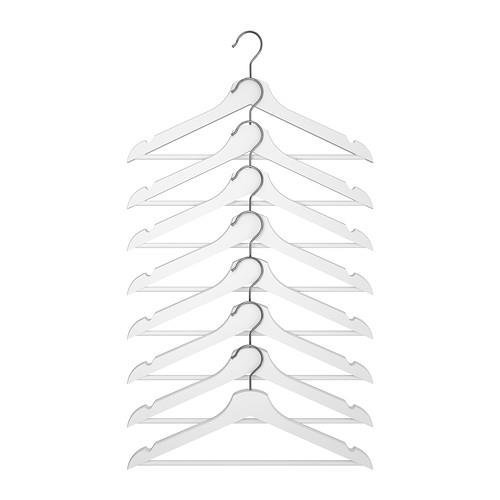 Ikea Hanger Wood Clothes Coat (8 Pack) White Bumerang
