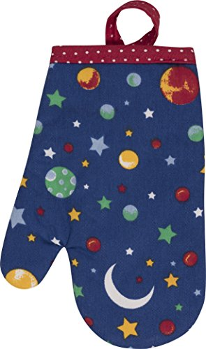 Handstand Kitchen Child's 100% Cotton Shell 'Stars and Planets' Oven Mitt