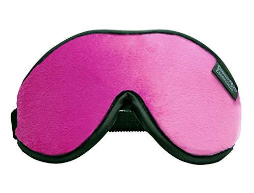 Dream Essentials® Escape™ Luxury Sleep Mask with Eye Cavities, Free Earplugs and Carry Pouch (Hot Pink)