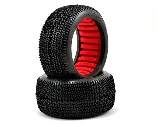 AKA Products 14112SR Racing Truggy Evo City Block Soft Tire with Red Inserts, Scale (City Block Tires)