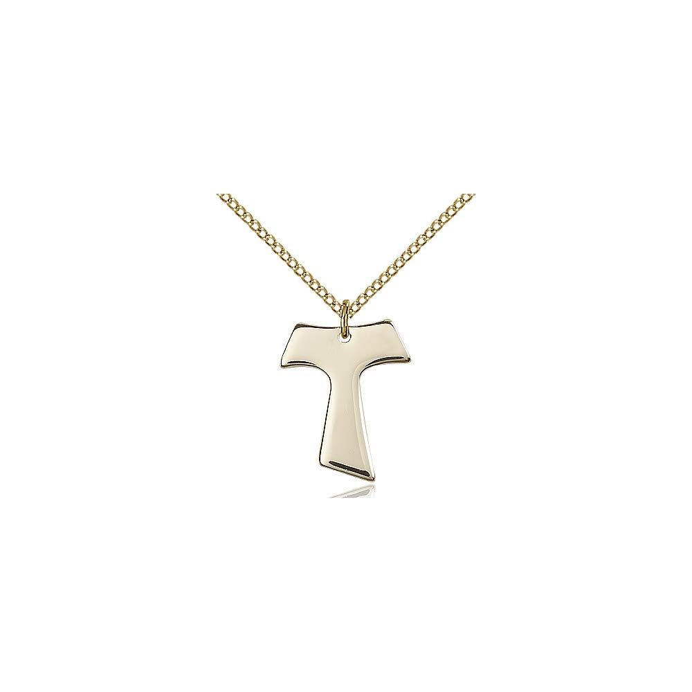 DiamondJewelryNY 14kt Gold Filled Tau Cross Pendant