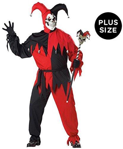 California Costumes Black/Red Evil Jester Plus Size Costume Plus