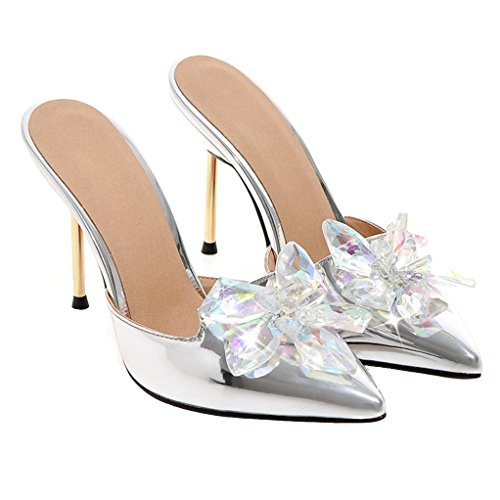 Silber Mules Femme Mules Mules Femme Silber JYshoes Femme JYshoes JYshoes RSqtgw5n