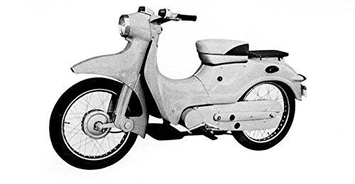 1961 Kawasaki Pet Moped Factory Photo from AutoLit