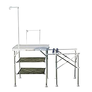 Delicieux Kinbor Folding Camping Kitchen Table Portable Outdoor Cooking Food Prep  Table, Silver