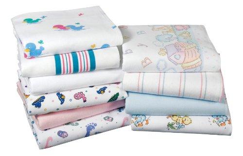 amazoncom 3pk baby blankets nursery receiving blankets baby foot print3pk baby