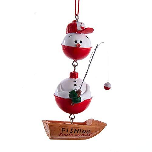 Kurt Adler Fishing Snowman Ornament