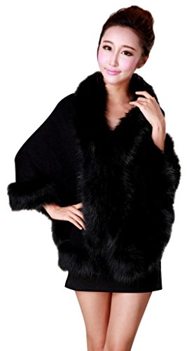 CgQgXn Luxurious Faux Fur Soft Shawls Cape