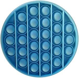 Heyeam 1x Fidget Sensory Toys Push Pop Pop Bubble Sensory Fidget Toy Stress Relief Special Needs Silent Classroom (Dark Blue)