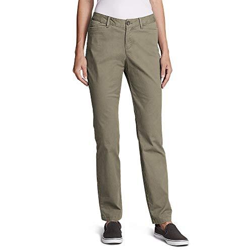 Eddie Bauer Women's Stretch Legend Wash Pants - Curvy Fit, Cloud Petite 12 (Best Pants For Curvy Figure)