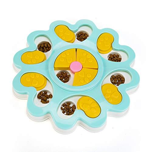puzzle feeder, Ugood Puppy Treat Dispenser Dog Toys Dog Food Puzzle Toys Bowl Puppy Feeder (Blue) ()