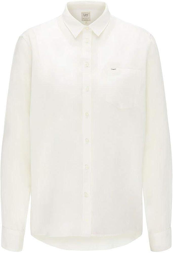 Lee One Pocket Shirt Camisa, Color Blanco, XS para Mujer: Amazon.es: Ropa y accesorios
