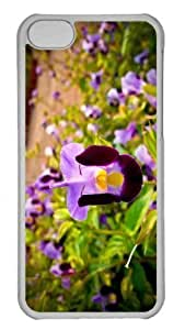 Customized iphone 5C PC Transparent Case - Flower 97 Personalized Cover