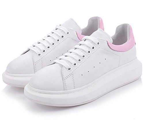 femenina zapatos fondo deporte de encaje casuales zapatos de pink elevadores otoño zapatos Sra grueso de qwAZFX77