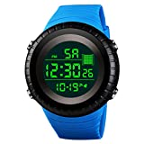 Men's Digital Watch Hessimy Men's Sports Watch LED Screen Large Face Military Watches and Waterproof Casual Luminous Electronics Watch Back Light Outdoor Simple Army Wrist Watch