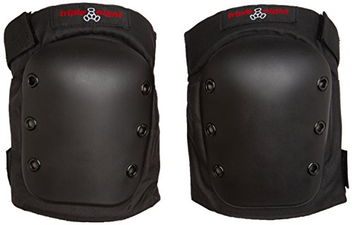 (Triple Eight Street Knee Pads for Skateboarding and Roller Derby with Adjustable Straps, Large)