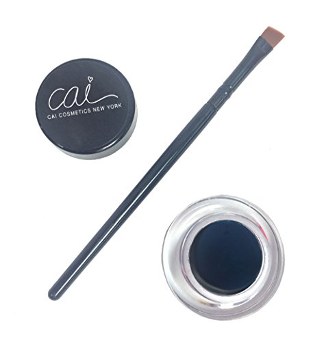 Cai Cosmetics 2 Piece Waterproof Gel Eyeliner & Brush Set (Navy Blue)