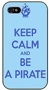 iPhone 4 / 4s Keep Calm and be a pirate - black plastic case / Keep Calm, Motivation and Inspiration by icecream design