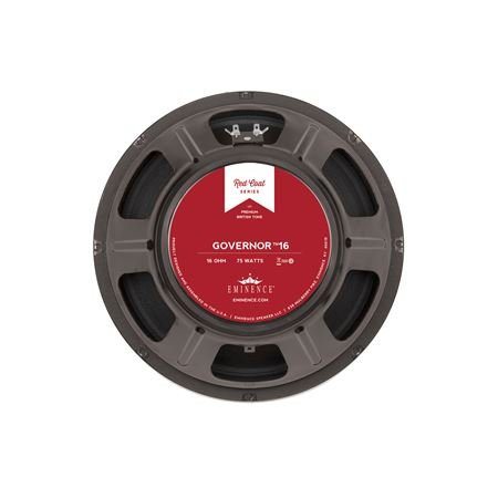 Eminence Red Coat Series The Governor 16 12'' Guitar Speaker, 75 Watts at 16 Ohms