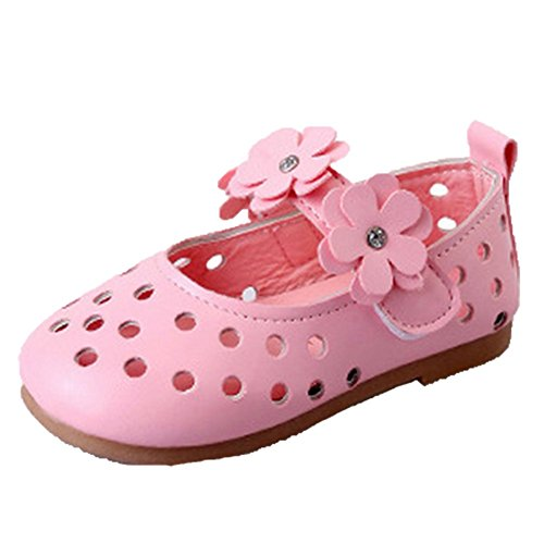 Halbschuhe Sandalette Freizeit Ohmais Ballerinas Pink Kinder Mädchen Sandaletten Mädchen flach Sandalen Kleinkinder gT18zqT