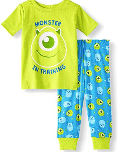 Monster Pajamas Toddlers (Monster's Inc Mike Baby Boys Pajamas 2 Piece Short Sleeve Cotton Set (18 Months))