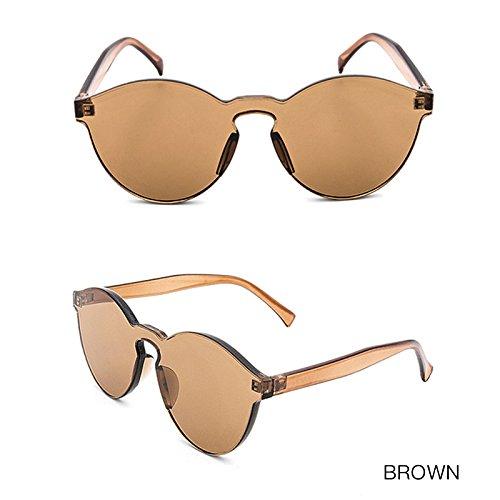 Sol De Gafas Sol Transparentes Transparente TIANLIANG04 Sin De Gafas Chica Bastidor De Color BROWN Vintage Las De Mujeres Gafas De EYaAAXZn
