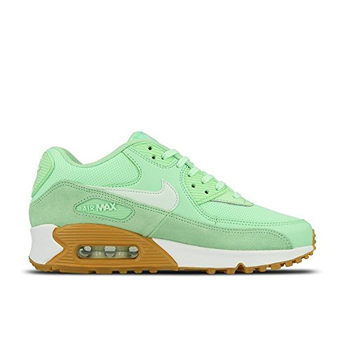 Womens Brown Air (Nike Women's Air Max 90 Running Shoe Fresh Mint/Barely Green-Gum Light Brown (8.5))
