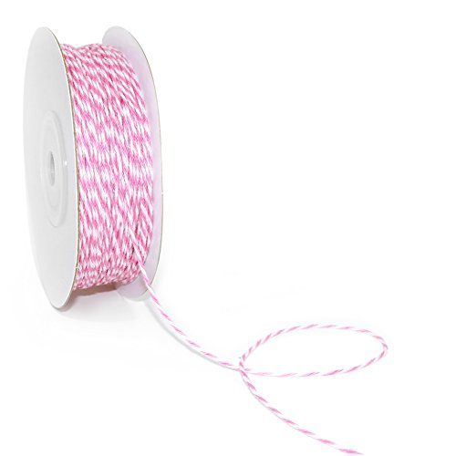 e 1mm x 100 yard.Decorative Bakers Twine for DIY Crafts and Gift Wrapping - Striped Light Pink (Baker Striped Tie)