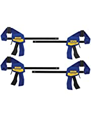 IRWIN QUICK-GRIP Clamps, One-Handed, Mini Bar, 6-Inch, 4-Pack (1964758)