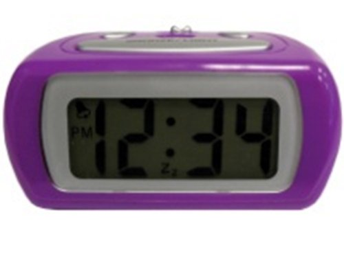 Advance Time Technology LCD Alarm Clock, Purple