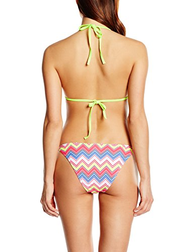 Happy and So Ensemble Bikini Imprimé - Bikini Mujer Multicolore (Zig Zag/Jaune Fluo)