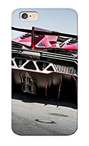 Ideal Gift - Tpu Shockproof/dirt-proof 2014 Lamborghini Roadster Supercar Veneno Rosso Red Italan Cover Case For Iphone(6) With Design