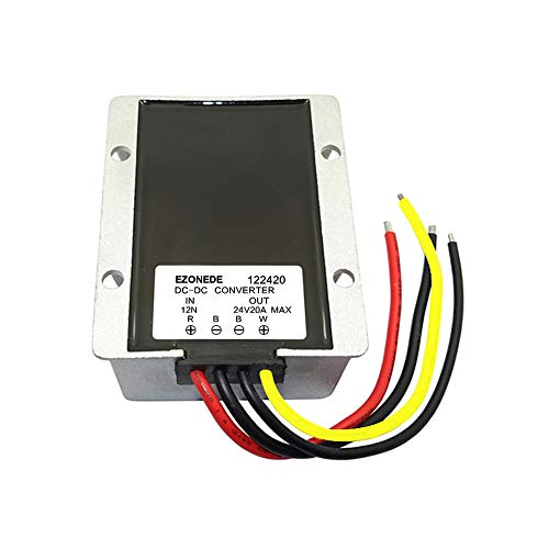 Stayhome 1PCS 12V (10V-22V) to 24V 15A 400W Step Up Boost Converter 12VDC to 24VDC 15AMP Waterproof DC-DC Voltage Regulator Car Power Module (Voltage 15 Amp Regulator)