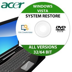 Acer Recovery Disc for Windows Vista 32/64 Bit PC Computer Laptop