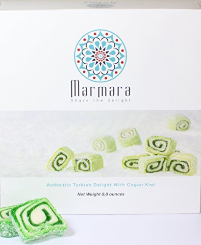 WINTER SALE! Marmara Authentic Turkish Delight Lokum with Cogan Kiwi Sweet Confectionery Gourmet Gift Box Candy Dessert (Large)
