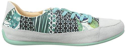 Desigual Damen Shoes_happy Sneakers Türkis (5024 TURQUESA PALO)