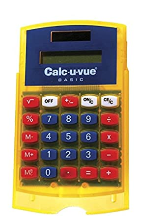 Amazon Com School Specialty Math Calc U Vue Student Calculator Grade K 6 Subtraction Multiplication Pack Of 10 Industrial Scientific