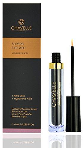 SUPERB Eyelash Growth Serum 4 ml. MADE IN GERMANY I Eyelash Enhancing Serum for Eyelashes and Eyebrows I eyelash enhancer serum I Eyelash Booster by Chavelle